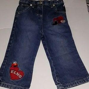 Toddler Girl's Elmo Jeans
